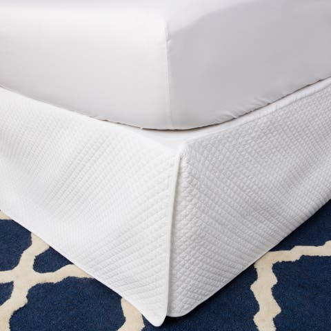 Greenland Home Fashions White Diamond Quilted Bedskirt