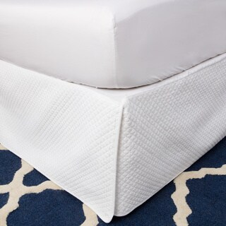 Greenland Home Fashions White Diamond Quilted 18-inch Drop Bedskirt (4 options available)