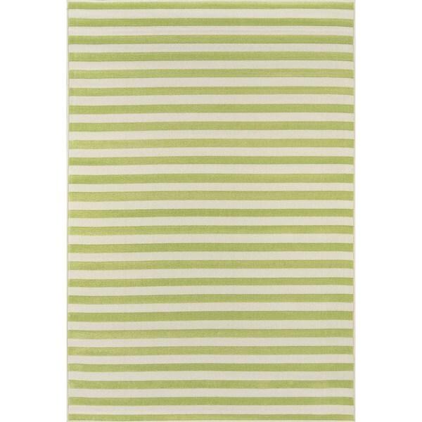"Momeni Baja Stripe Green Indoor/Outdoor Area Rug - 7'10"" x 10'10"""