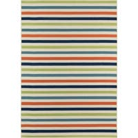 "Momeni Baja Stripe Multicolor Indoor/Outdoor Area Rug - 6'7"" x 9'6"""