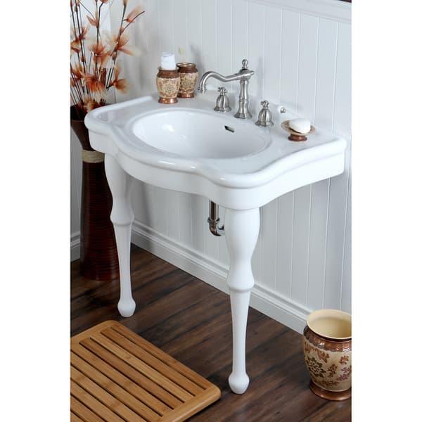 Vintage 32 Inch For 8 Inch Centers Wall Mount Pedestal Bathroom Sink Vanity On Sale Overstock 8036002