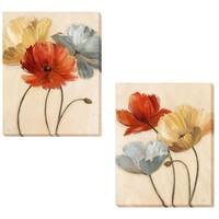 Nan 'Poppy Palette I and II' 2-piece Canvas Set