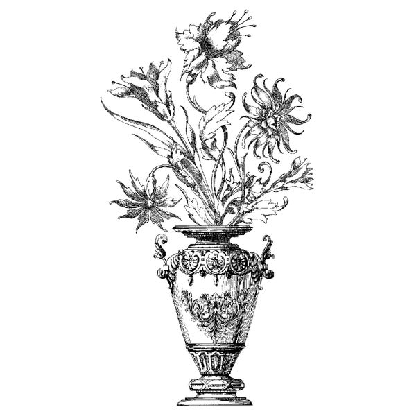 Magenta Cling Stamps-Victorian Bouquet