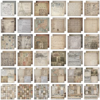 """Tim Holtz Idea-Ology Paper Stash Paper Pad 12""""X12"""" 36/Sheets-French Industrial"""