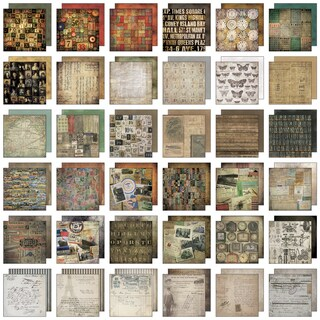 "Tim Holtz Idea-Ology Paper Stash Paper Pad 8""X8"" 36/Sheets-Collage"