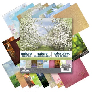 """Paper House Double-Sided Paper Pad 12""""X12"""" 24/Sheets-Nature"""