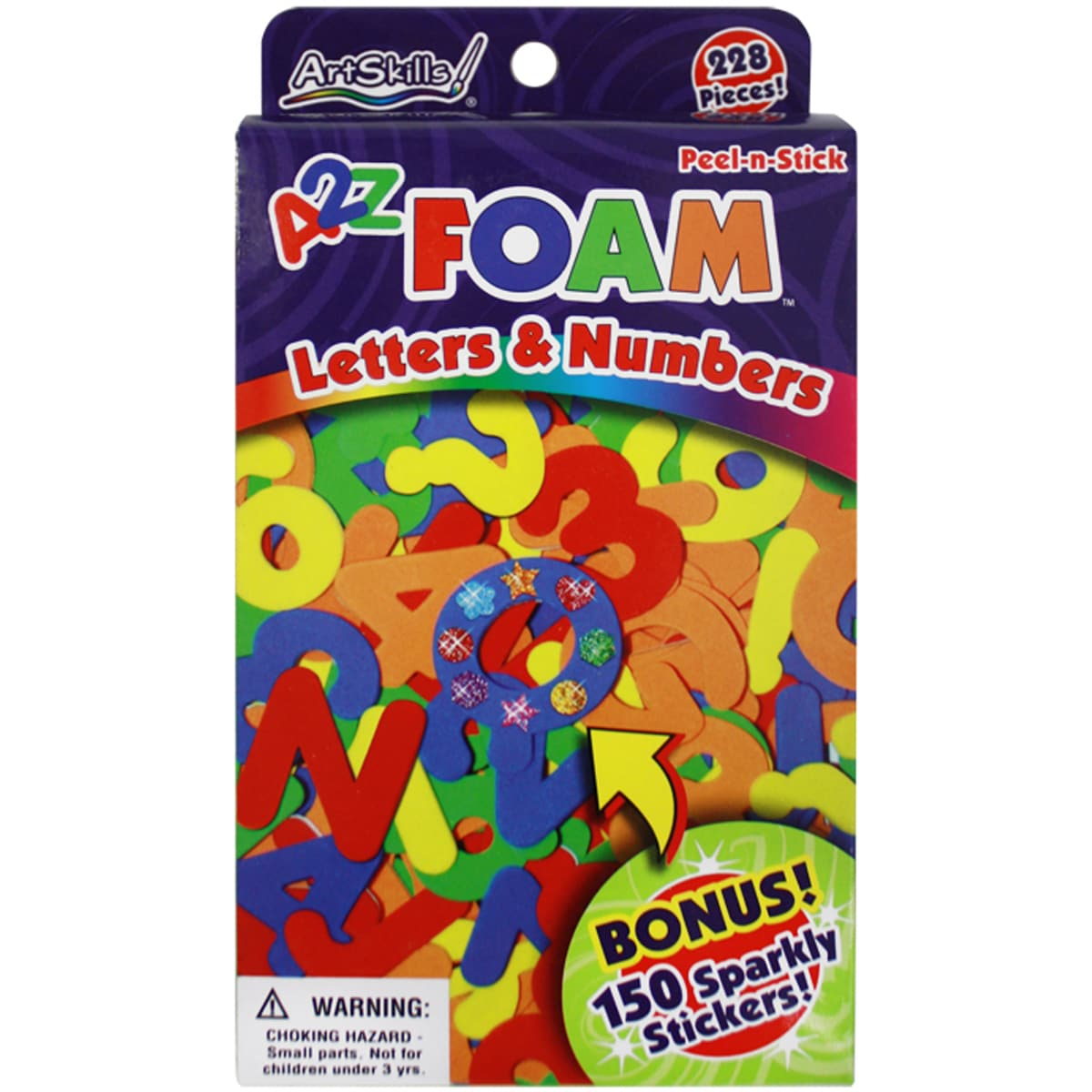 UNASSIGNED Peel-N-Stick Foam Letters & Numbers 228/Pkg-Wi...