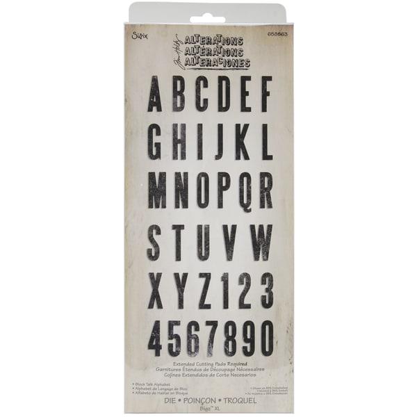 Sizzix Bigz XL Alphabet Die By Tim Holtz-Simply Said