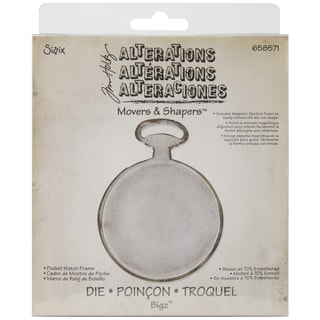 Sizzix Movers & Shapers Base Die By Tim Holtz-Pocket Watch Frame