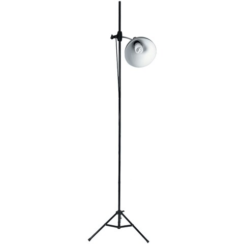 Daylight Artist Studio Lamp & Stand-Silver & Black