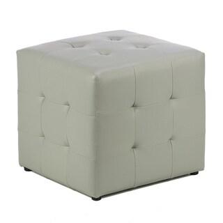 Cortesi Home Apollo Steel Grey Cube Ottoman