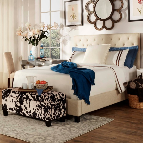 Sophie Tufted Full-size Upholstered Platform Bed by TRIBECCA HOME