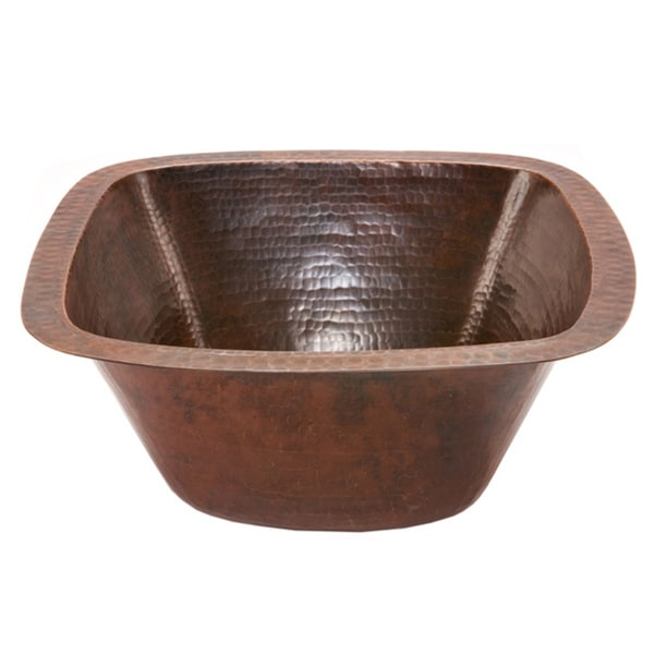 15-inch Hammered Copper Bar/ Prep Sink