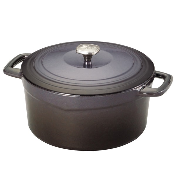 Guy Fieri Cast Iron Porcelain 7-quart Dutch Oven Graphite