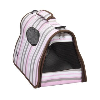 Pet Life Airline Approved Zippered Large Pet Stripe Carrier
