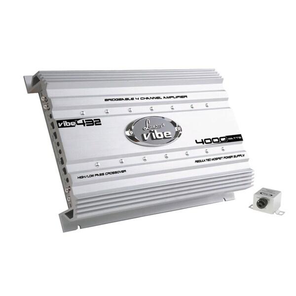Lanzar VIBE432 Vibe 4000 Watt 4 Channel Mosfet Amplifier - White