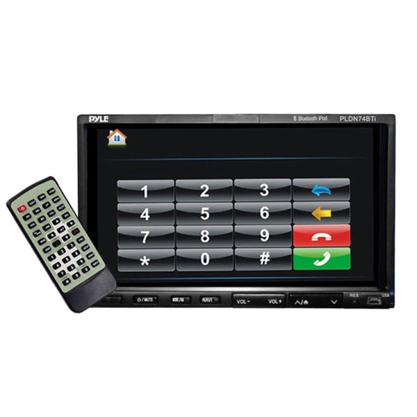 """Pyle 7"""" Double DIN TFT Touchscreen Multimedia Receiver with Remote"""