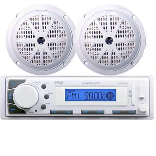 """Pyle Marine Stereo AM/FM iPod/mp3 Receiver + 2 x 100W 5.25"""" Speakers"""