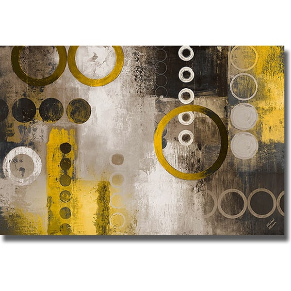 Michael Marcon 'Yellow Liberated' Canvas Art
