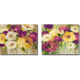 Lanie Loreth 'Deep in Purple I and II' 2-piece Canvas Set