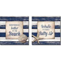 Elizabeth Medley 'Beach and Salty Air' 2-piece Canvas Art Set