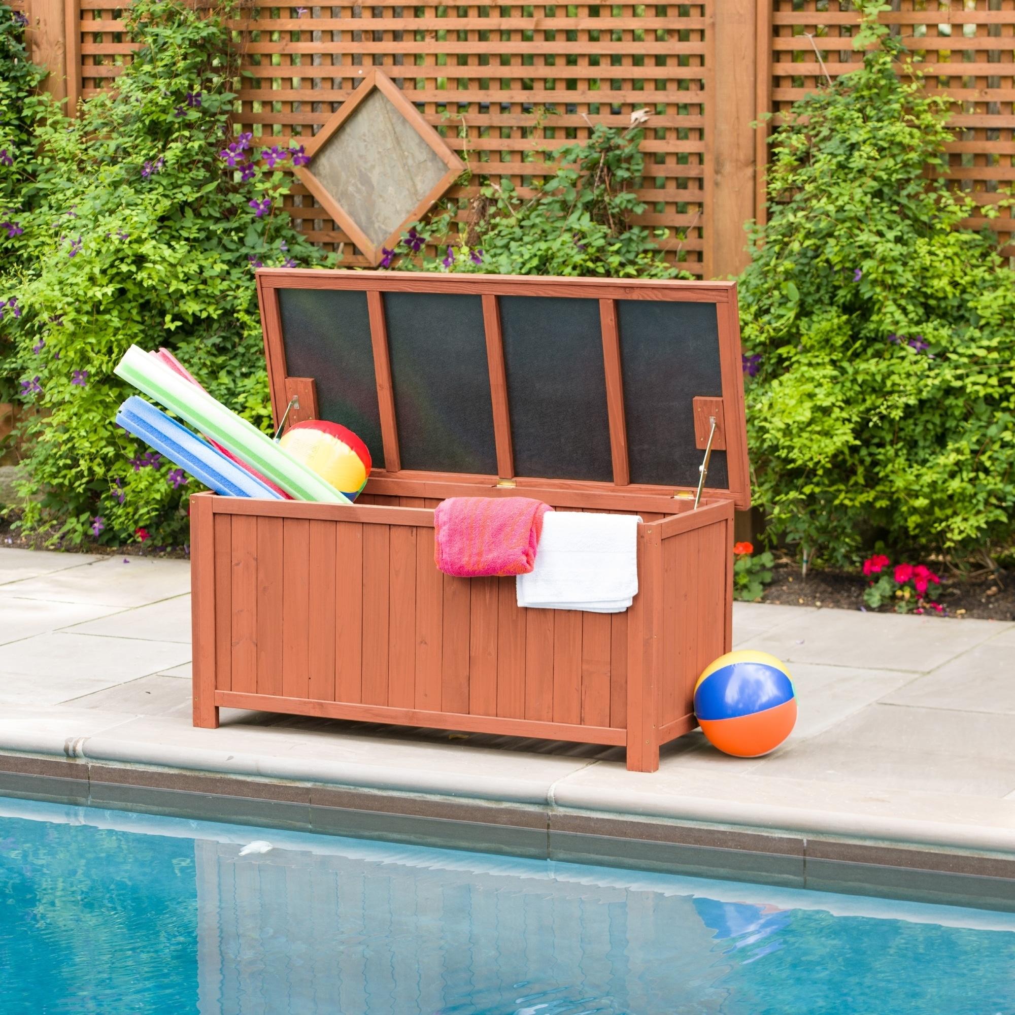 Solid Wood Deck Storage Box (Storage)