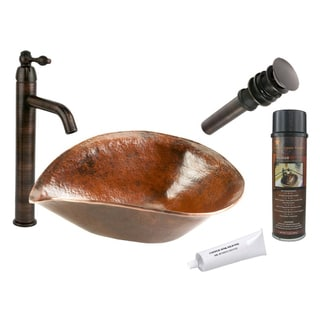 Premier Copper Products with Single Handle Vessel Faucet Package