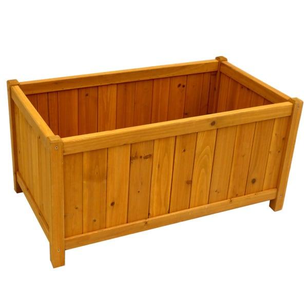 Rectangular planter box free shipping today overstock