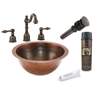Premier Copper Products Widespread Bathroom Faucet Package