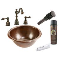 Premier Copper Products Widespread Copper Faucet Package