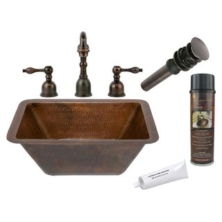 Premier Copper Products Widespread Double-Handle Faucet Package