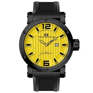 Oceanaut Men's Loyal Stainless Steel Watch with Yellow Dial