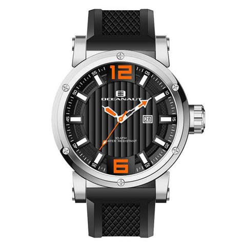 Oceanaut Men's Loyal Stainless Steel Watch with Black Dial