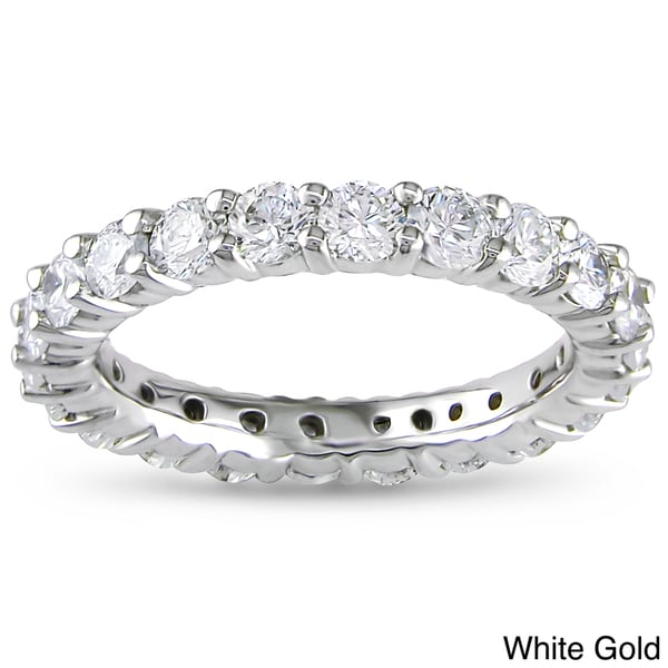 Miadora Signature Collection 14k Gold 2ct TDW Certified Diamond Eternity Band