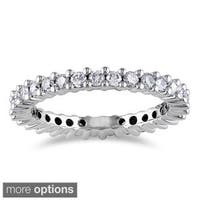 Miadora Signature Collection 14k Gold 1ct TDW Certified Diamond Eternity Band