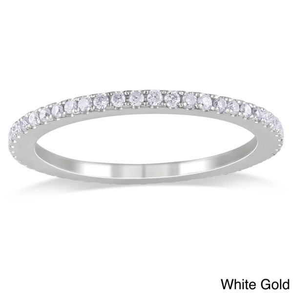 Miadora 14k Gold 1/2ct TDW Diamond Certified Eternity Band (G-H, I1-I2) (IGL)