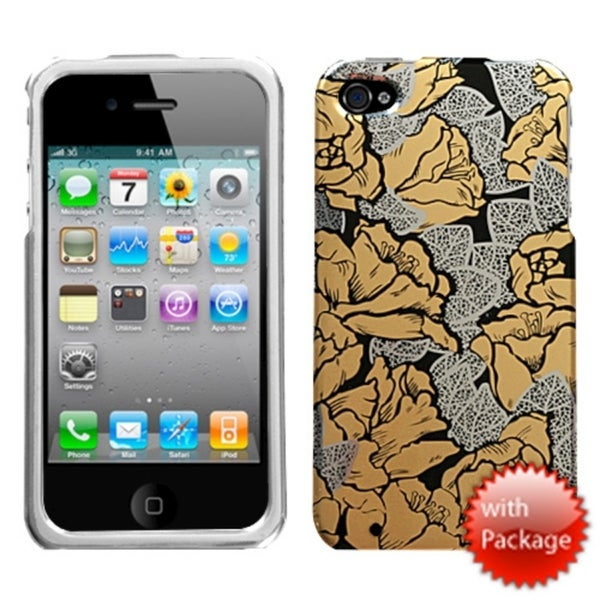 INSTEN Thriving Roses Reflex Phone Case Cover for Apple iPhone 4/ 4S