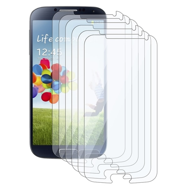 INSTEN Clear Screen Protector for Samsung Galaxy S IV/ S4 i9500 (Pack of 6)