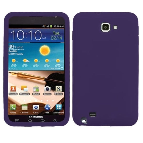 BasAcc Purple Silicone Case for Samsung i717 Galaxy Note/ T879
