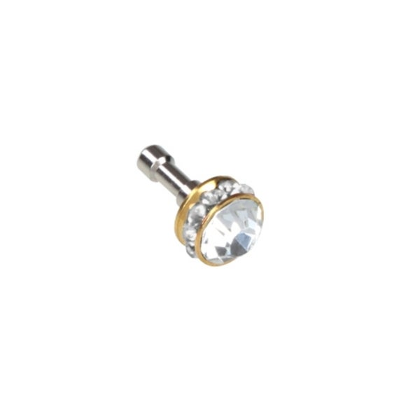 BasAcc Silver Diamond Dust Cap for Cell Phone