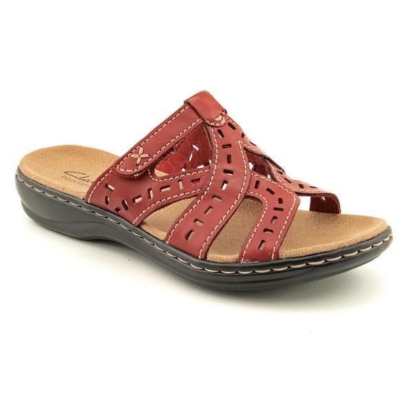 Clarks Women's 'Leisa Truffle' Leather Sandals