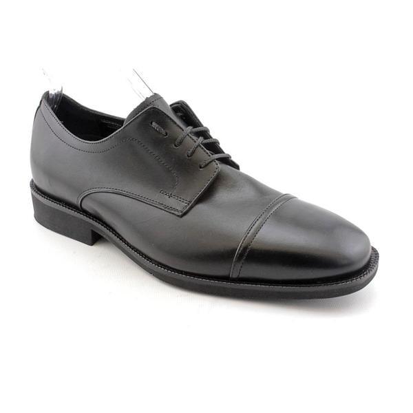 Neil M Men's 'Senator' Black Leather Casual Shoes
