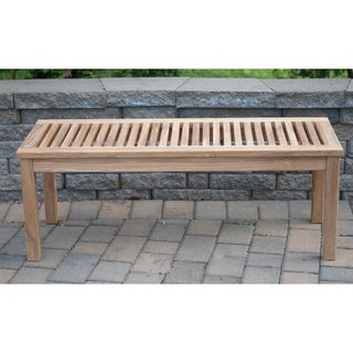 Solid Teak 4-foot Backless Bench