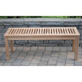 Solid Teak 4-foot Backless Bench