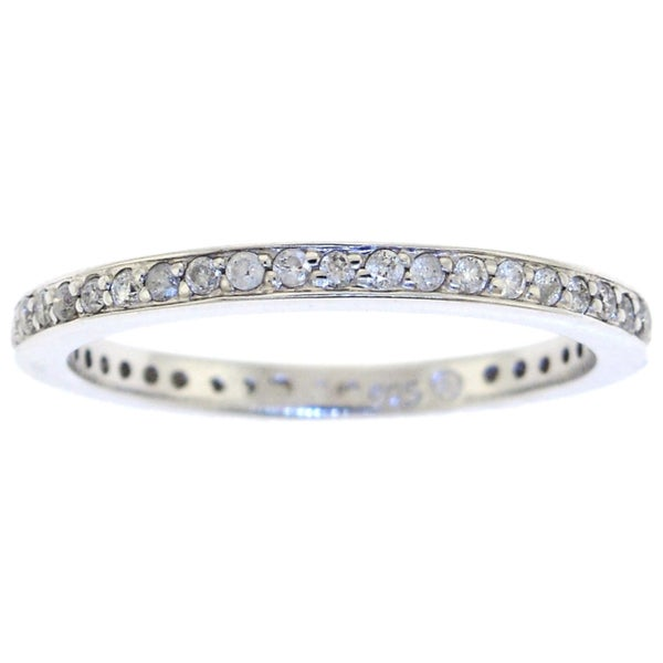 Sterling Silver 1/3ct TDW Diamond Eternity Band