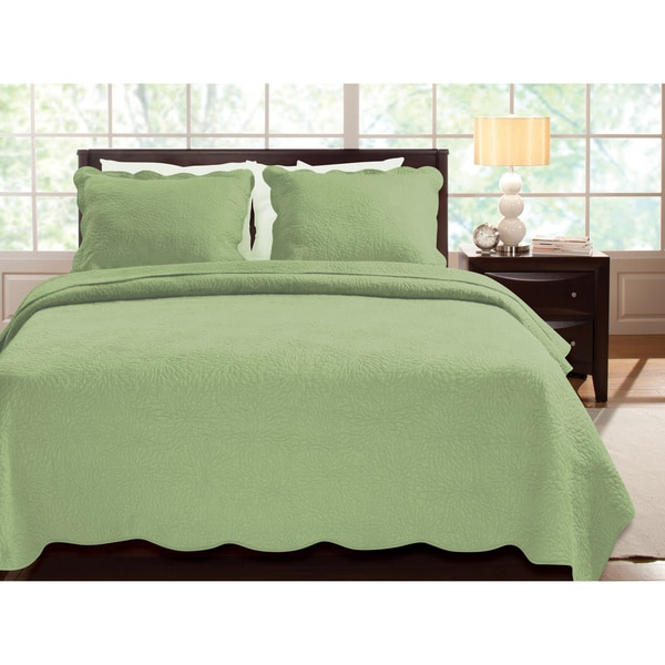 Greenland Home Fashions Serenity 100-percent Cotton Oversized 3-piece Quilt Set