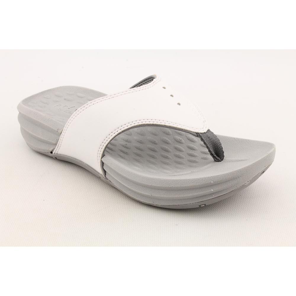 Clarks White Privo Longshore Wedge Sandals