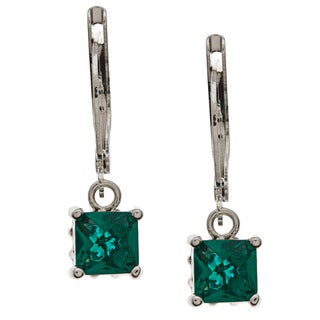 Kate Bissett Gold Overlay Green Cubic Zirconia Drop Earrings