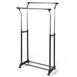 Storage Basics Adjustable Double Garment Rack