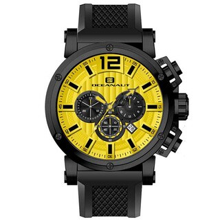 Oceanaut Men's Loyal Chronograph Watch with Yellow Dial - Black